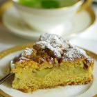 Rabarbarų pyragas su kukurūzų kruopomis ir cinamonu