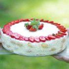Citrininis tiramisu tortas su braškėmis