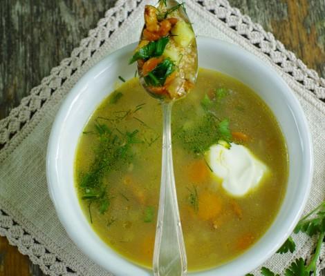 Dzūkiška voveraičių sriuba