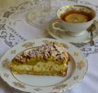 Trupininis varškės pyragas su rabarbarais
