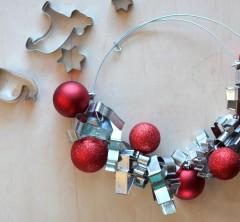 Kalėdinis vainikas virtuvei